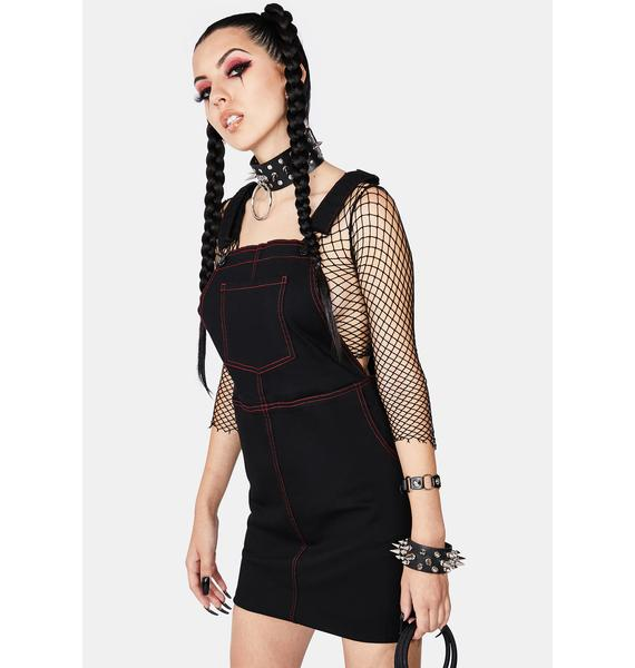 Black Friday Welcome To Hell Pinafore Dress