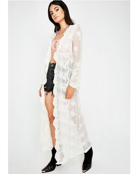 Chill Set The Mood Lace Kimono