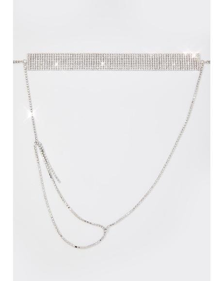 Happy Friday Rhinestone Necklace