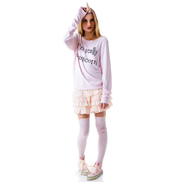 Wildfox Couture I'm Really A Unicorn Baggy Beach Jumper