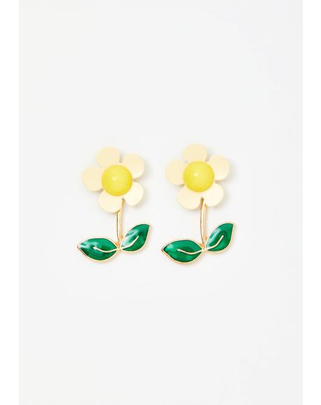 Serene Bloom Flower Earrings
