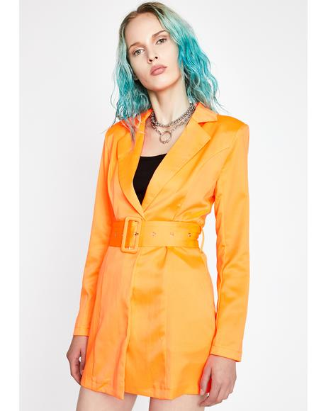 Mimosa Why So Serious Belted Blazer