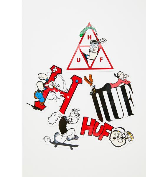 HUF Popeye Sticker Set