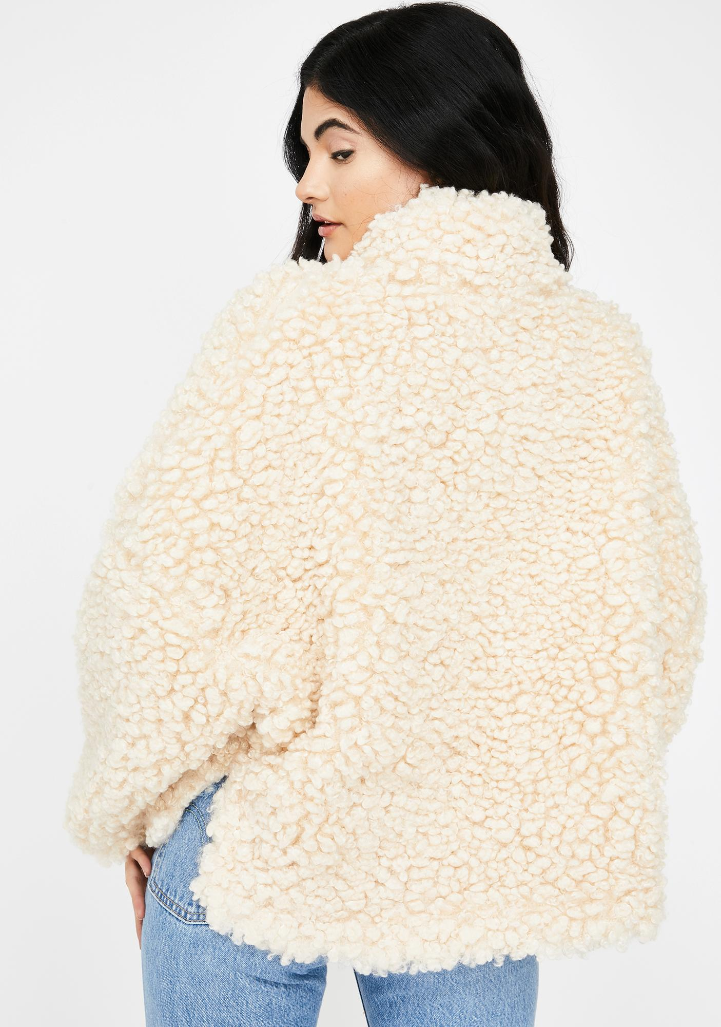 ZEMETA Forest Walk Faux Fur Jacket