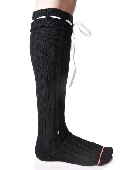 Dark Dolores Knee High Socks
