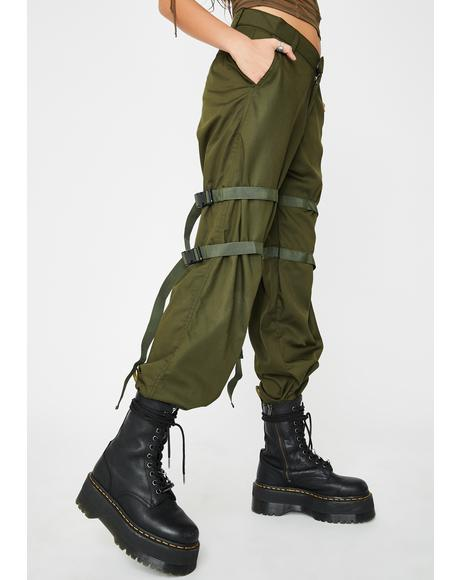 Olive Buckle Clive Cargo Trousers