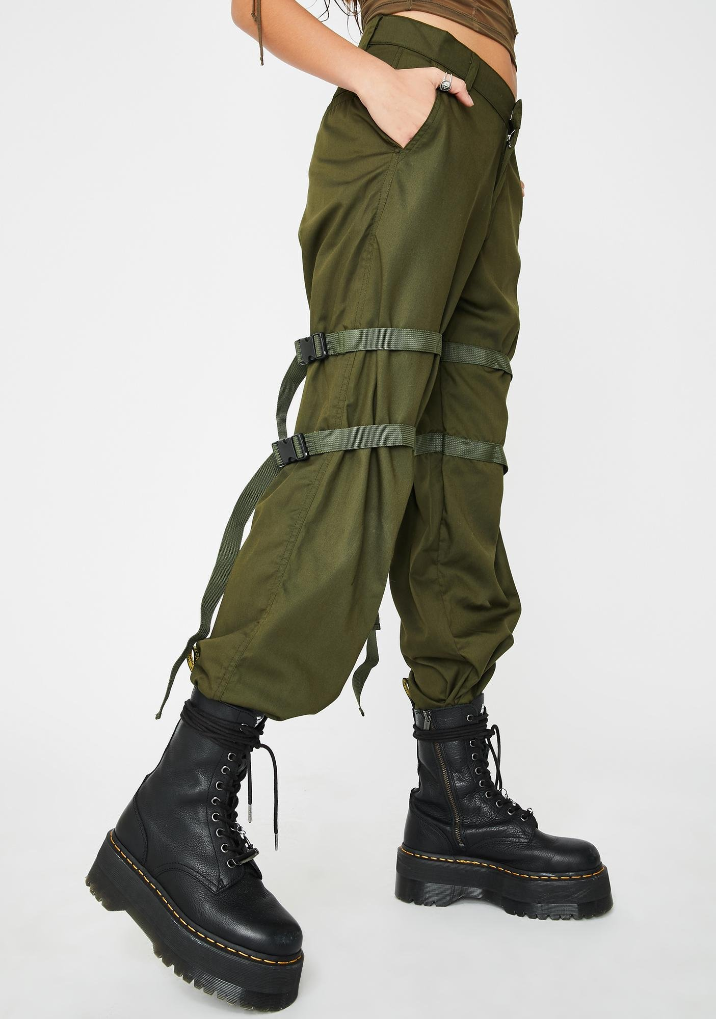 Motel Olive Buckle Clive Cargo Trousers
