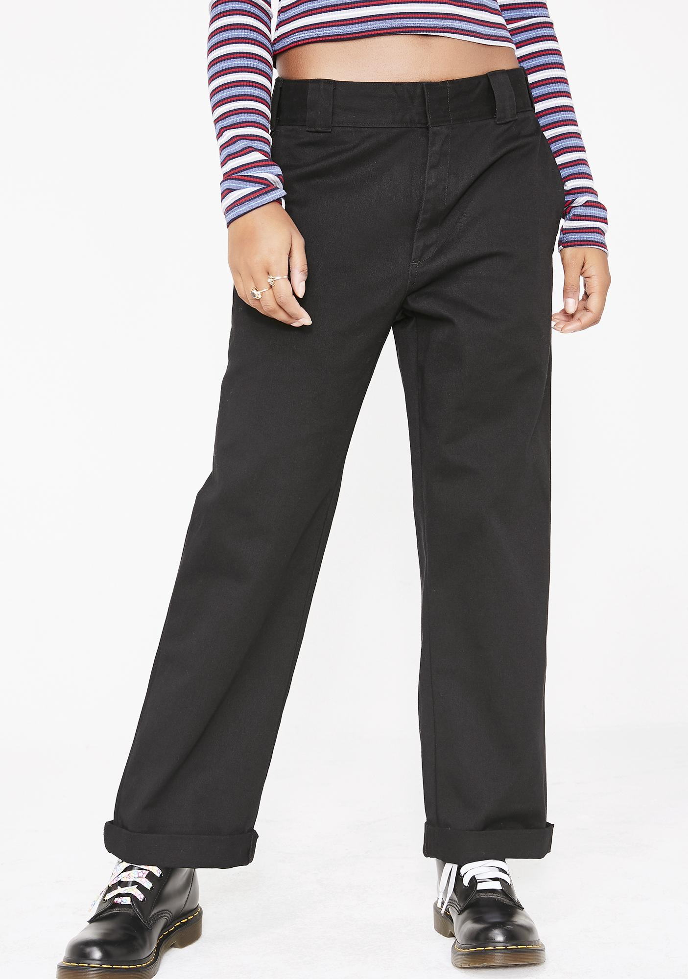 Dickies Girl Midnight Work Crop Roll Hem Pants