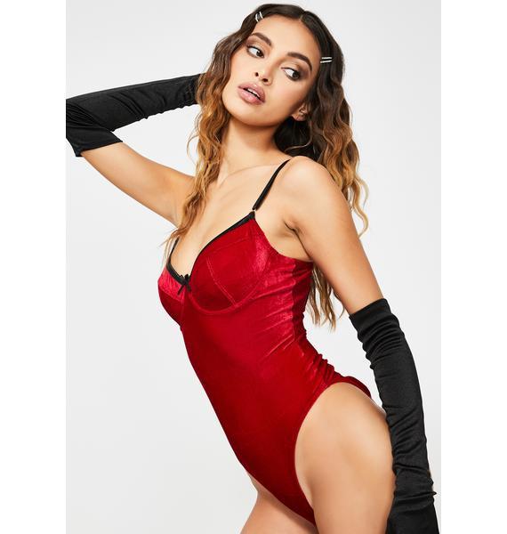 Vixen Temptation Velvet Bodysuit