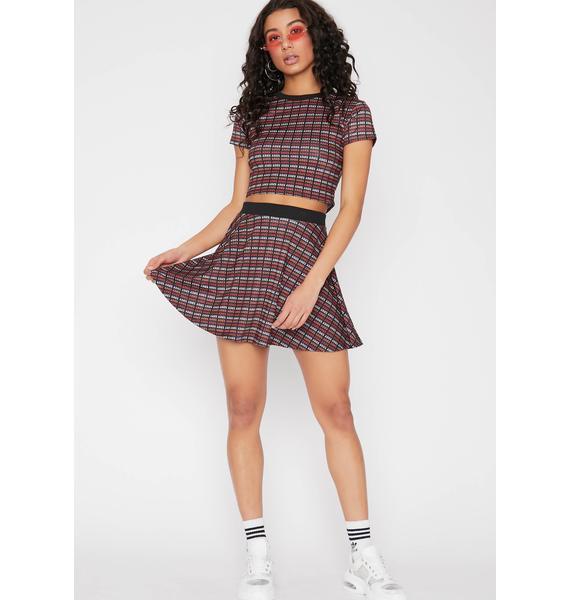HOROSCOPEZ Aries Addicted Flared Skirt