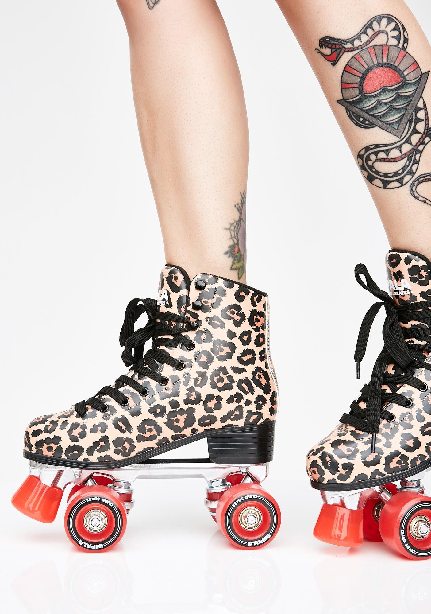 Impala Rollerskates Leopard Roller Skates