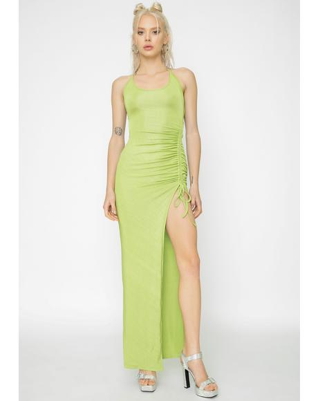 Green Halley Maxi Dress