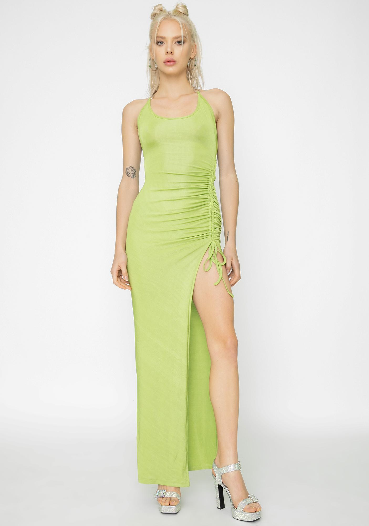 I AM GIA Green Halley Maxi Dress