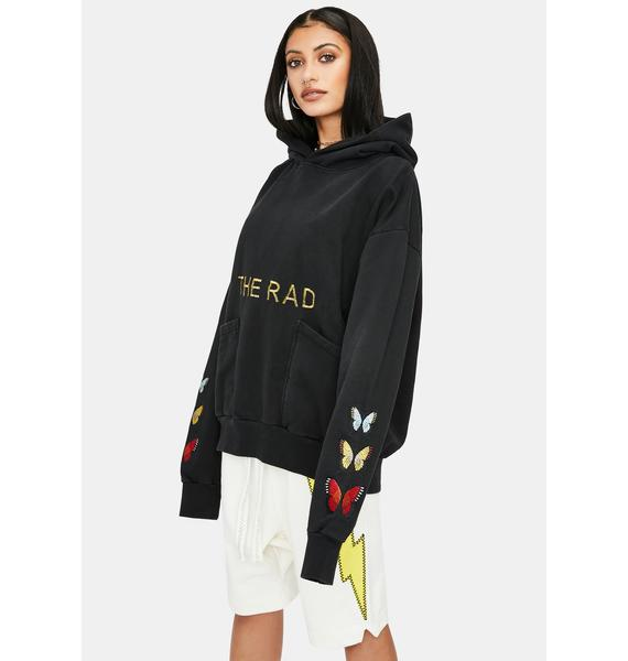 The Rad Black Kids Butterfly V2 Graphic Hoodie