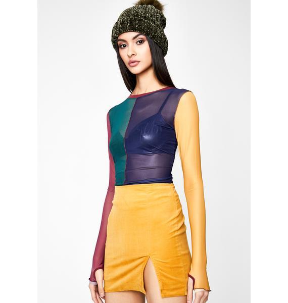 Turmeric Total Temptation Corduroy Skirt