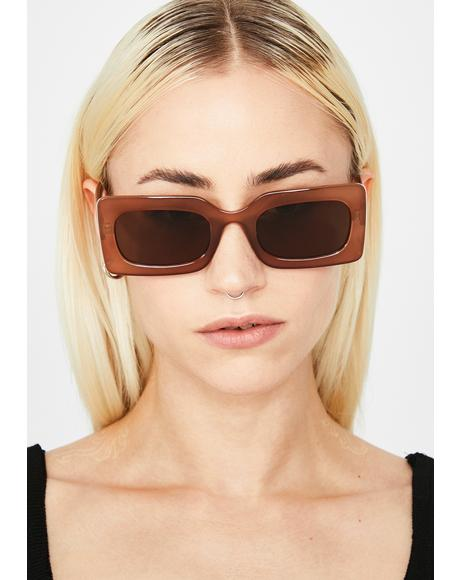 Mocha Posh Status Square Sunglasses