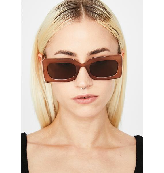 Mocha Posh Status Square Sunglasses