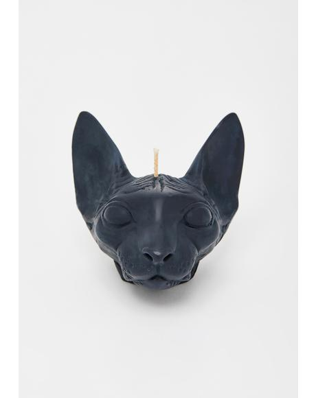 Black Sphynx Cat Soy Candle