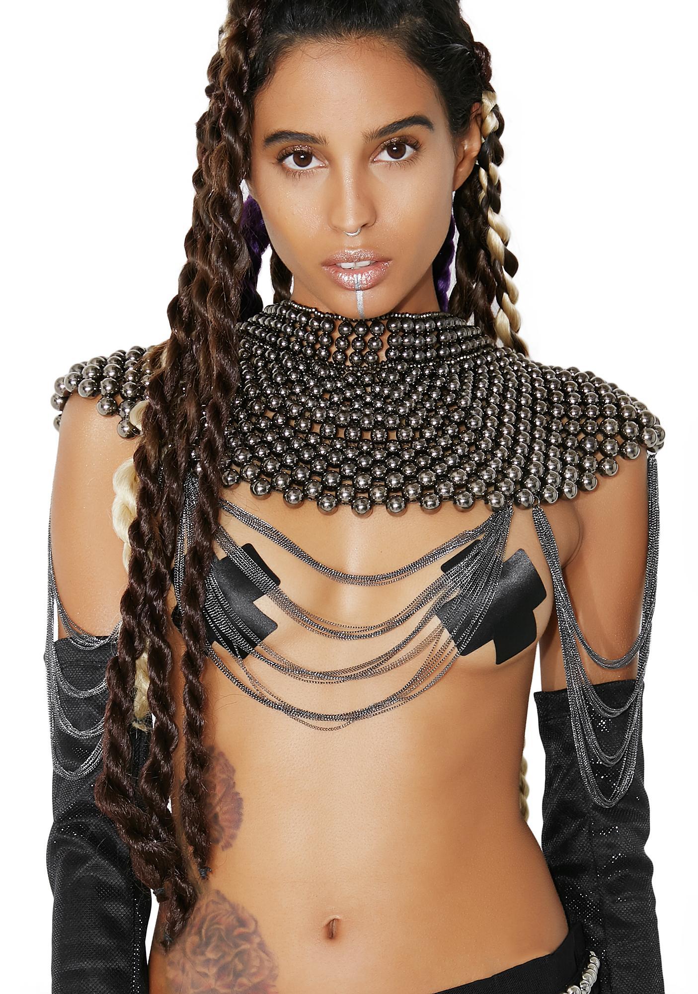 Warrior Princess Beaded Collar