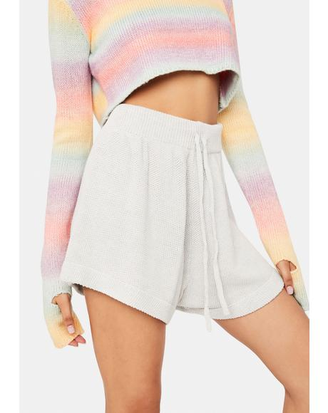 Long Weekend Love Knit Lounge Shorts
