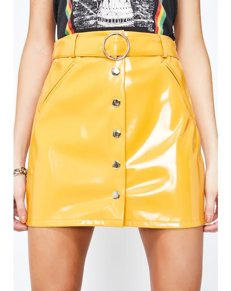 Bodak City Nightz Patent Skirt