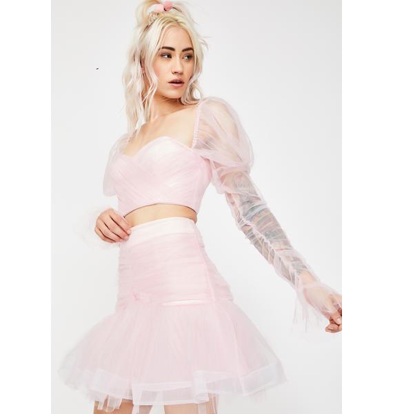 Dyspnea Pussy Peach Mini Skirt