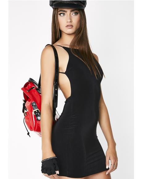 Noir Adore You Backless Dress