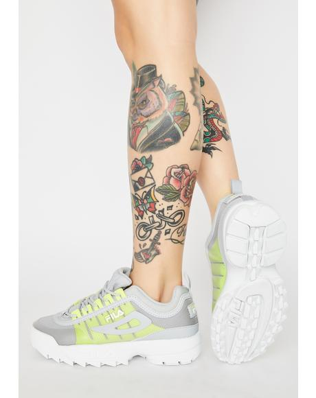 Gray Disruptor 2 Monomesh Sneakers