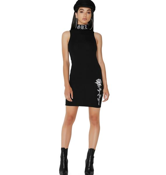 Poster Grl Legendary Embroidered Bodycon Dress