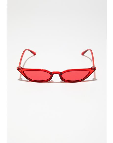 Cherry Bad Biddie Blvd Sunglasses
