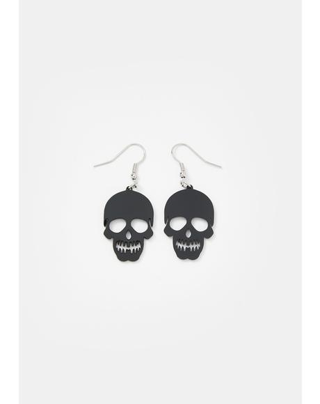 Dead Inside Skull Earrings