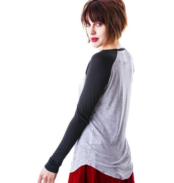 Zoe Karssen Never Tear Us Apart Loose Fit Long Sleeve Tee