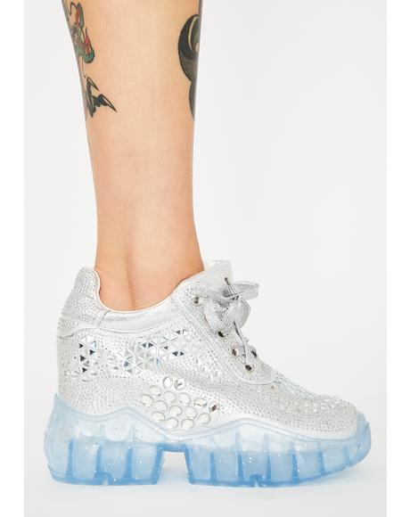 Chrome Shoot To Thrill Platform Sneakers