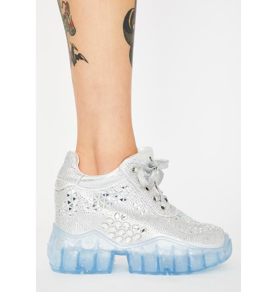 Anthony Wang Chrome Shoot To Thrill Platform Sneakers