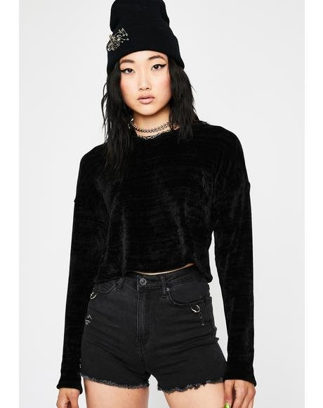 Dark Softcore Trixx Crop Sweater
