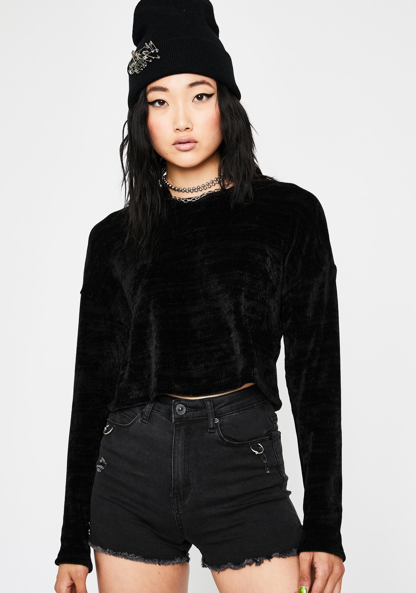 Dark Softcore Trixx Crop Sweater