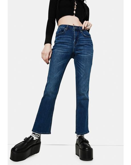 Marley Midrise Crop Boot Cut Jeans