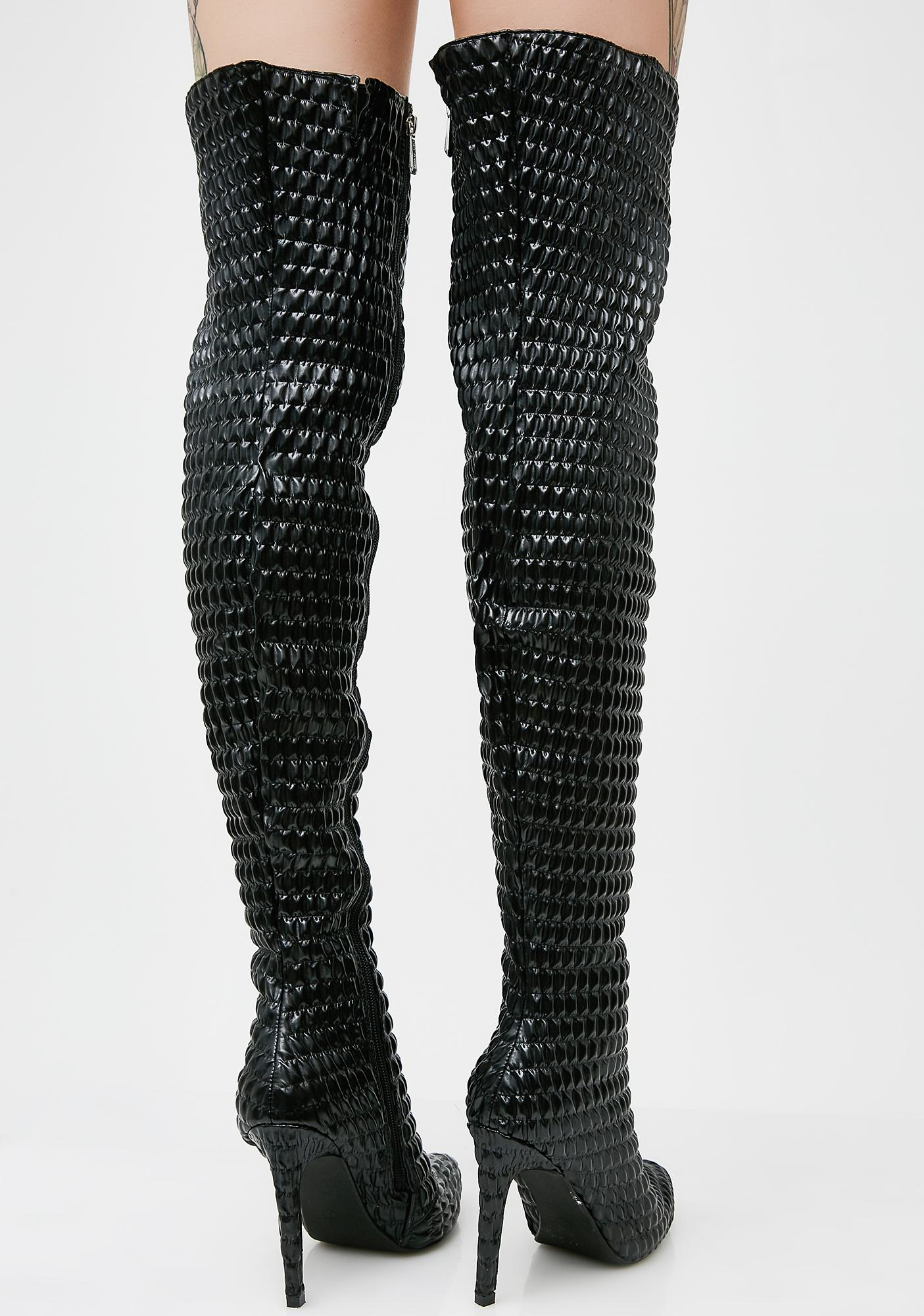 World Domination Thigh-High Boots