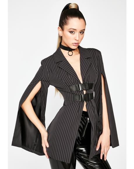 Business As Usual Pinstripe Blazer