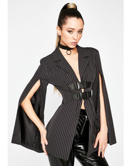 Business As Usual Pinstripe Blazer