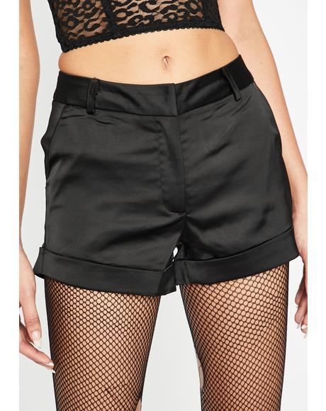 Bossy Baddie Satin Shorts