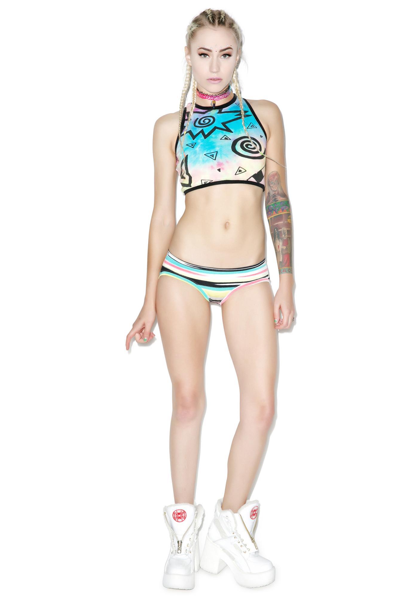 Mamadoux Airbrush Stripe Bikini Bottoms