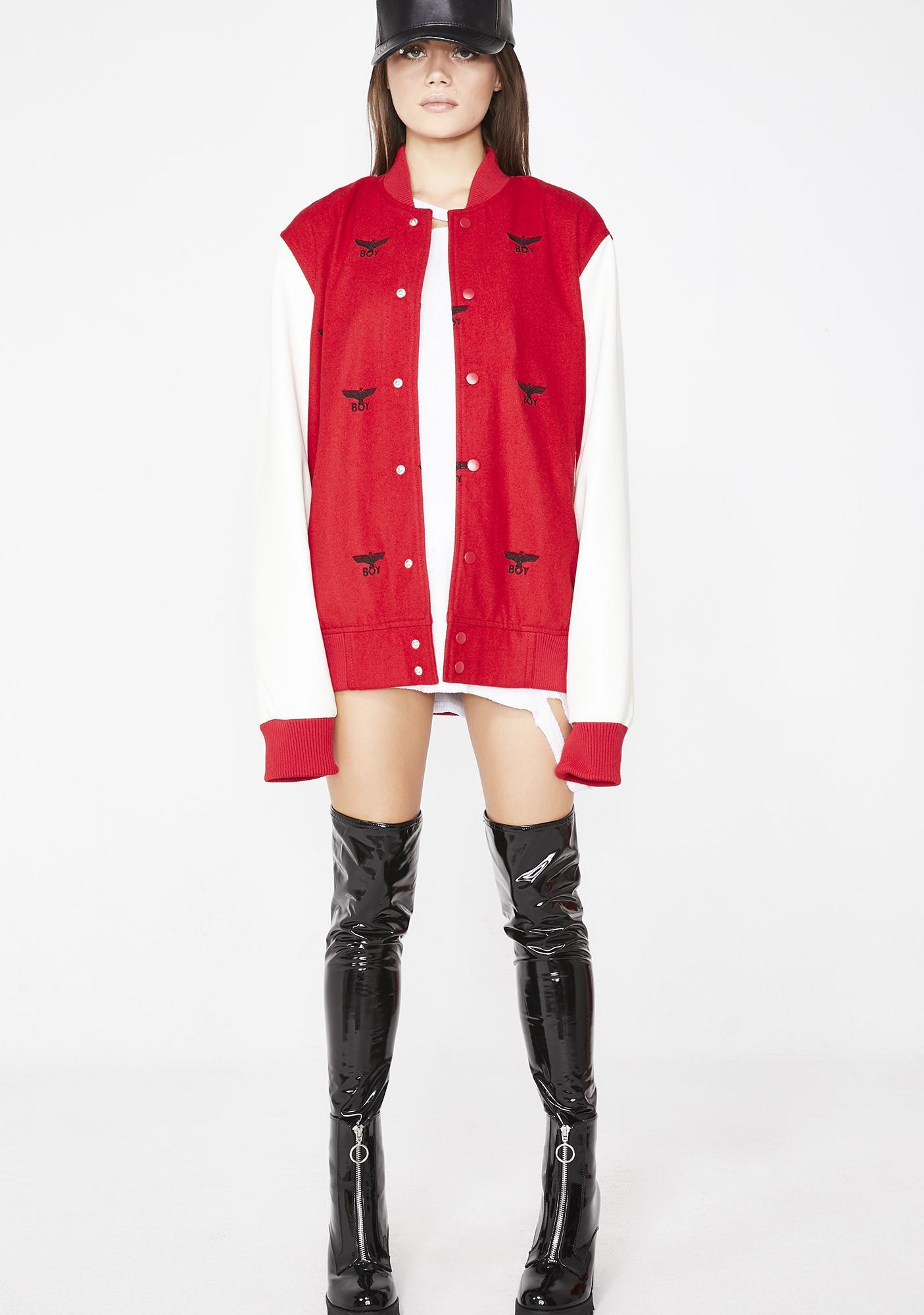 BOY London Boy Repeat Varsity Jacket