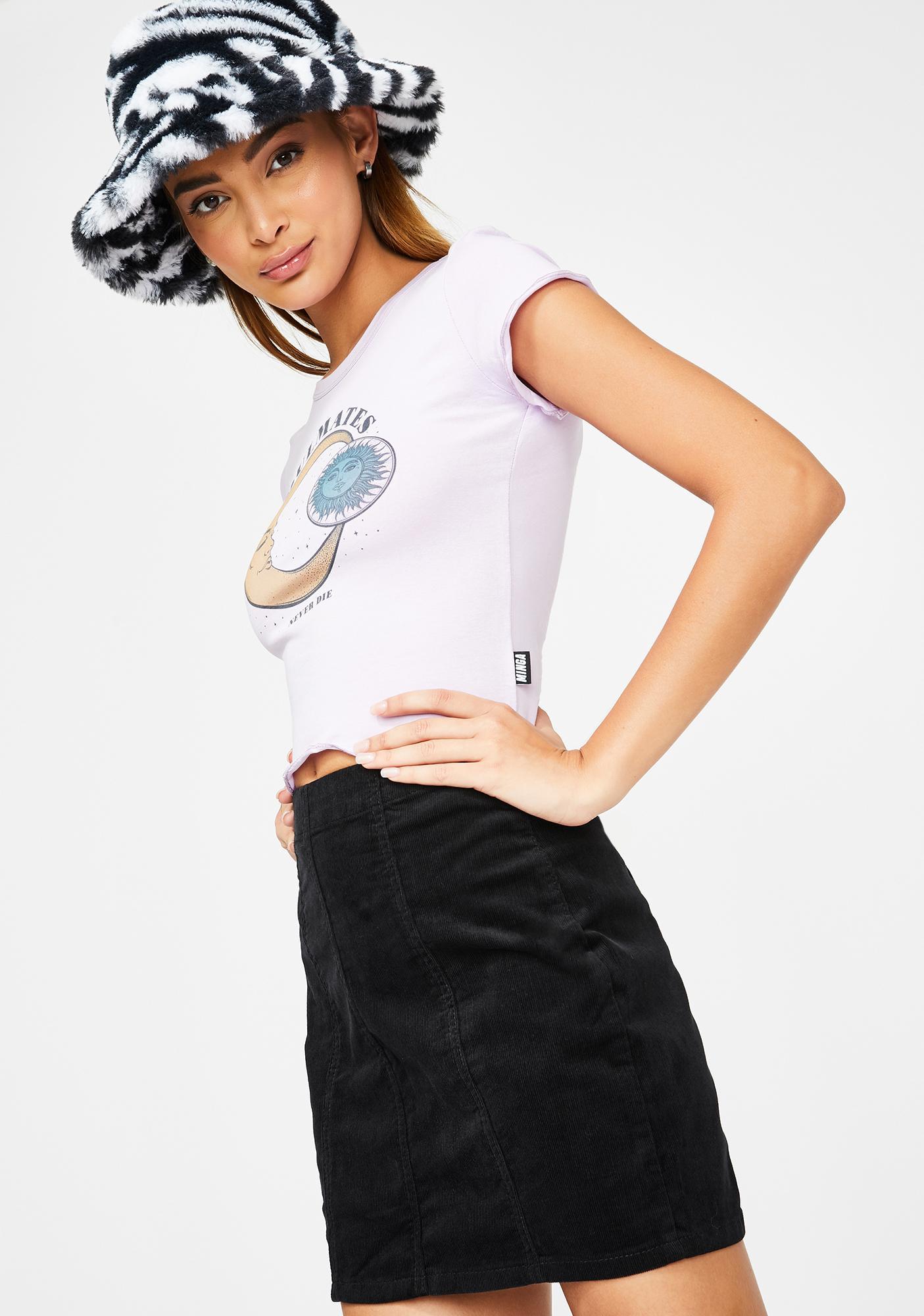 Momokrom Black Corduroy Mini Skirt