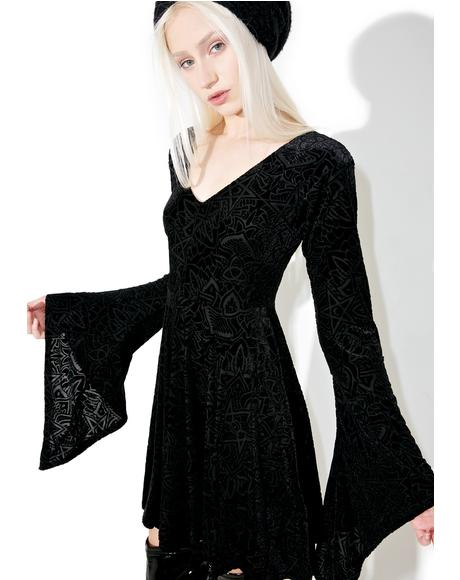 Burn Baby Angel Sleeve Dress