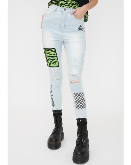 Scrawl Patchwork Jeans