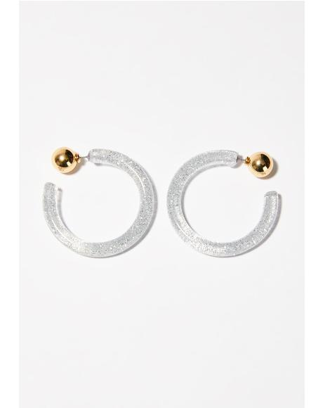 Stardust High Hoop Earrings