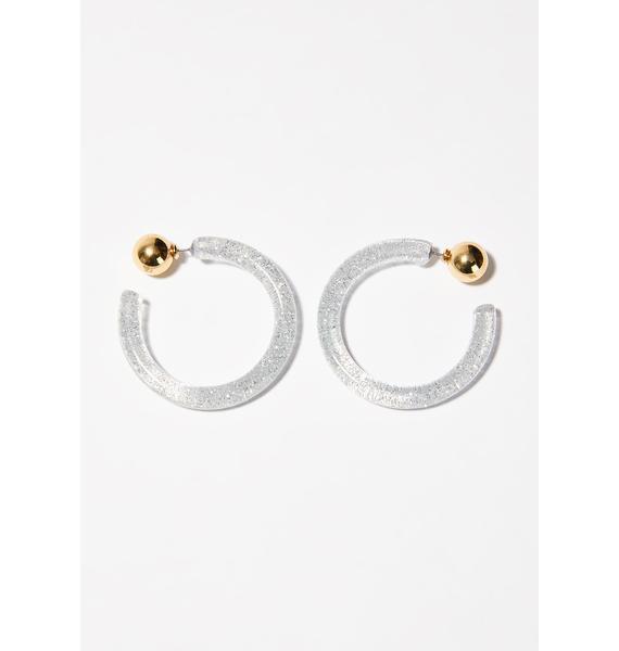 Stardust High Hoop Earrings