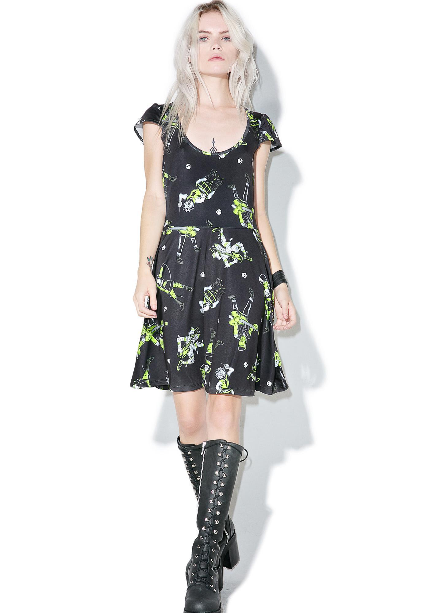 Sourpuss Clothing Monster Mosh Skater Dress