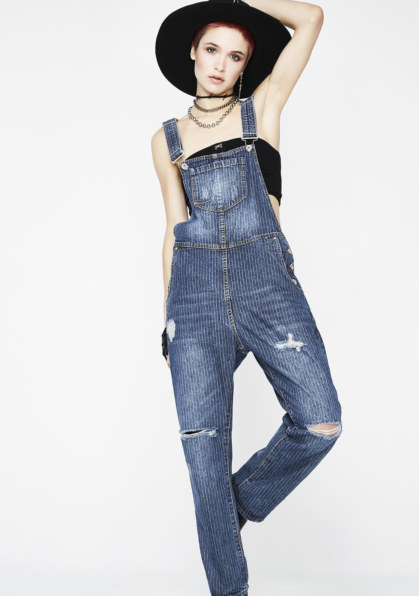 Don't Touch Denim Overalls